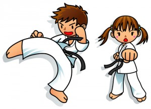 Děti na karate